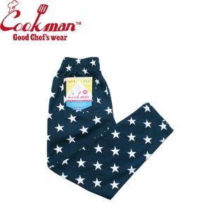 COOKMAN CHEF PANTS STAR NAVY クックマン シェフパンツ イージーパンツ スター 星柄 ネイビー 19s|stormy-japan