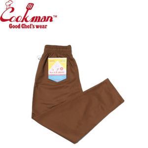 COOKMAN CHEF PANTS CHOCOLATE BROWN クックマン シェフパンツ イージーパンツ チョコレート ブラウン 19m|stormy-japan