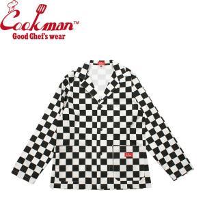 COOKMAN LAB JACKET CHECKER BLACK クックマン ラボ ジャケット チェッカー ブラック 19f|stormy-japan
