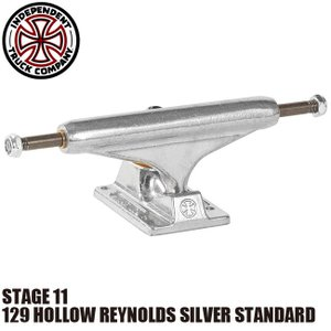 INDEPENDENT 129 HOLLOW REYNOLDS SILVER STANDARD STAGE 11 SKATEBOARD TRUCK(インディペンデント スケートボード トラック アンドリュー・レイノルズ ホロウ)|stormy-japan