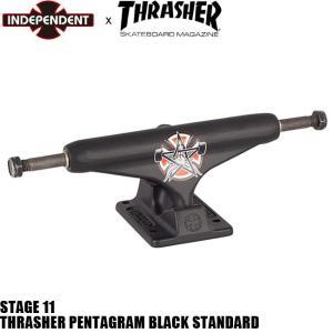 INDEPENDENT x THRASHER 144 BLACK STANDARD STAGE 11 SKATEBOARD TRUCK インディペンデント スラッシャー インディ スケートボード トラック スタンダード|stormy-japan