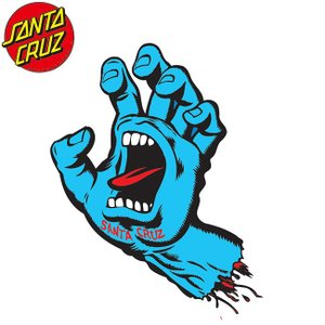 SANTACRUZ Screaming Hand Sticker(6inx4.25in)(BLUE)(サンタクルズ スクリーミングハンド ステッカー ブルー)17s|stormy-japan