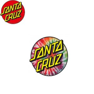 SANTACRUZ Tie Dye Dot Sticker 3inx3in TIEDYE サンタクルズ ドット ステッカー タイダイ 18f|stormy-japan