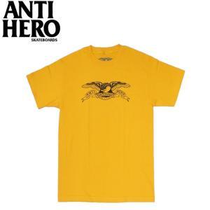 ANTIHERO BASIC EAGLE SS TEE GOLDBLACK アンチヒーロー ベーシックイーグル 半袖 Tシャツ ゴールドブラック 19m|stormy-japan
