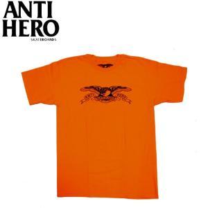 ANTIHERO BASIC EAGLE TEE ORANGE BLACK アンチヒーロー 半袖  Tシャツ イーグル オレンジ ブラック 19f|stormy-japan