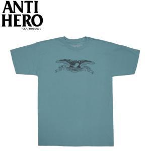 ANTIHERO BASIC EAGLE TEE SLATE BLUE BLACK アンチヒーロー 半袖 Tシャツ イーグル スレイトブルー ブラック 19f|stormy-japan