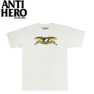 ANTIHERO EAGLE SS TEE CREAM アンチヒーロー イーグル 半袖 Tシャツ クリーム 19m|stormy-japan