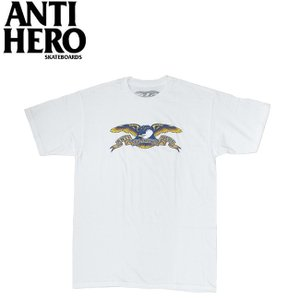 ANTIHERO EAGLE SS TEE WHITE アンチヒーロー イーグル 半袖 Tシャツ ホワイト 19m|stormy-japan