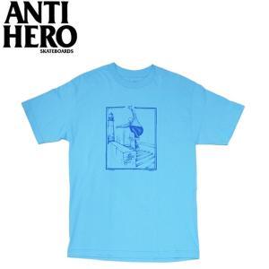 ANTIHERO LANCE B.A. SS TEE P.BLUE アンチヒーロー 半袖 Tシャツ ブルー 19m|stormy-japan
