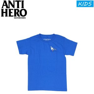 KIDS ANTIHERO LIL PIGEON YOUTH SS TEE ROYAL アンチヒーロー 半袖 Tシャツ キッズ 子供 ユース ロイヤル 19m|stormy-japan