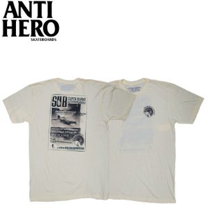 ANTIHERO SUPERBURN TEE CREAM BLACK アンチヒーロー 半袖 Tシャツ スーパーバーン クリーム ブラック 19f|stormy-japan