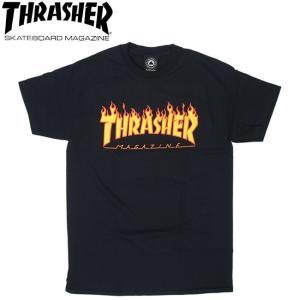 THRASHER FLAME LOGO SS TEE USA BLACK スラッシャー 半袖 Tシャツ ブラック 18s|stormy-japan