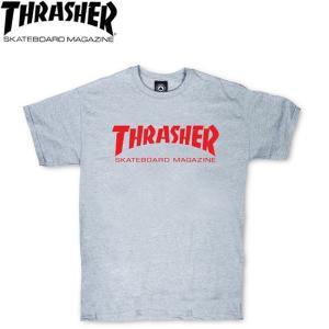THRASHER SKATEMAG TEE GRAY RED スラッシャー 半袖Tシャツ SKATEBOARD スケートボード スケボー 18s|stormy-japan