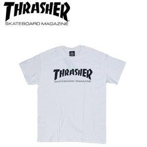THRASHER MAG LOGO SS TEE WHITE スラッシャー 半袖 マグロゴ Tシャツ ホワイト 18s|stormy-japan