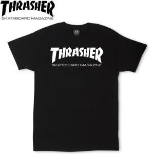 THRASHER MAG LOGO SS TEE USA BLACK スラッシャー 半袖 Tシャツ ブラック 18s|stormy-japan