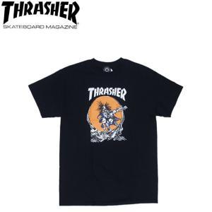 THRASHER OUTLAW SS TEE BLACK スラッシャー 半袖 Tシャツ ブラック 18s|stormy-japan