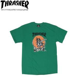 THRASHER OUTLAW SS TEE GREEN スラッシャー 半袖 Tシャツ グリーン 18s|stormy-japan