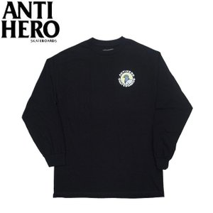 ANTIHERO PEGION ROUND LS TEE BLACK アンチヒーロー アンタイヒーロー 長袖Tシャツ ロングスリーブ ロンT ブラック 19h|stormy-japan
