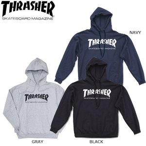 THRASHER SKATE MAG PULLOVER HOODSWEAT BLACK GRAY NAVY スラッシャー スケートマグ プルオーバー フードスウェット パーカー ブラック グレー ネイビー 19s|stormy-japan