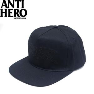 ANTIHERO BASIC EAGLE SNAPBACK CAP BLACK BLACK アンチヒーロー ベーシック イーグル スナップバック キャップ 帽子 ブラック 19m|stormy-japan