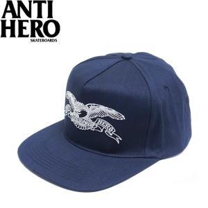 ANTIHERO BASIC EAGLE SNAPBACK CAP NAVY WHITE アンチヒーロー ベーシック イーグル スナップバック キャップ 帽子 ネイビー ホワイト 19m|stormy-japan
