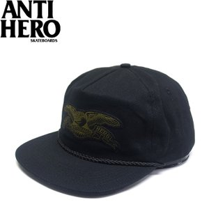 ANTIHERO STOCK EAGLE PATCH SNAPBACK CAP BLACKOLIVE アンチヒーロー ストック イーグル パッチ スナップバック キャップ 帽子 ブラックオリーブ 18s|stormy-japan
