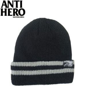 ANTIHERO EAGLE FLAG BEANIE BLACKGRAY アンチヒーロー ビーニー ニットキャップ 帽子 ブラックグレー 16f|stormy-japan