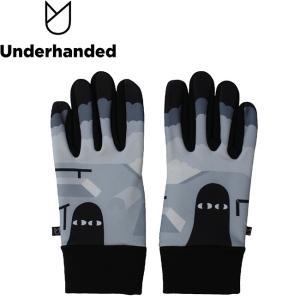 Underhanded x Japanese Artist LUV'S SKATEPARK LY GLOVE アンダーハンデッド グローブ 手袋 スマホ対応 18h|stormy-japan