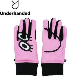 Underhanded x Japanese Artist face GLOVE PINK アンダーハンデッド グローブ 手袋 スマホ対応 ピンク 18h|stormy-japan