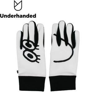 Underhanded x Japanese Artist face GLOVE WHITE アンダーハンデッド グローブ 手袋 スマホ対応 ホワイト 18h|stormy-japan