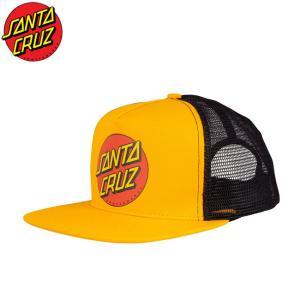 サンタクルーズ SANTA CRUZ キャップ 帽子 Classic Dot Mesh Snapback Cap GOLDBLACK ゴールドブラック|stormy-japan