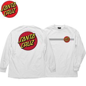 SANTA CRUZ Classic Dot L/S Tee(WHITE)(サンタクルズ 長袖 ロングスリーブ Tシャツ ロンT ホワイト)17s stormy-japan