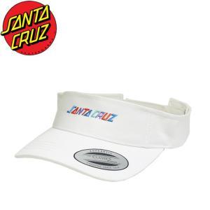 SANTACRUZ Colored Strip Visor Cap WHITE サンタクルーズ ストリップ バイザー キャップ 帽子 ホワイト 18m|stormy-japan