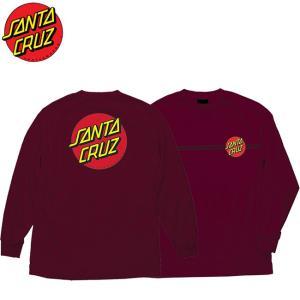 SANTA CRUZ Classic Dot LS Tee BURGUNDY サンタクルーズ 長袖 ロングスリーブ Tシャツ ロンT バーガンディ― 19s|stormy-japan
