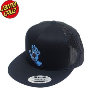 SANTA CRUZ Screaming Hand Front Trucker Snapback Mesh Cap Black サンタクルーズ メッシュキャップ スナップバック 帽子 スクリーミングハンド ブラック 19f|stormy-japan