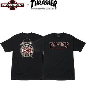 INDEPENDENT x THRASHER TIME TO GRIND SS TEE INDY BLACK インディペンデント スラッシャー インディ 半袖 Tシャツ ブラック 18f|stormy-japan