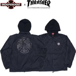 INDEPENDENT x THRASHER PENTAGRAM CROSS WINDBREAKER JACKET BLACK インディペンデント スラッシャー インディ ウィンドブレーカー ジャケット ブラック 18h|stormy-japan