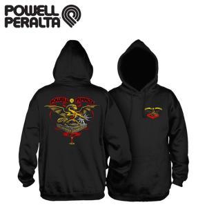 POWELL PERALTA Banner Dragon Hooded Sweatshirt Black パウエル ペラルタ プルオーバー フード スエット パーカー ブラック 18f|stormy-japan