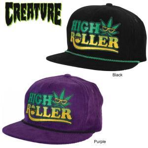 CREATURE HIGH ROLLER ADJ SNAPBACK CAP BLACK PURPLE クリーチャー スナップバック キャップ 帽子 ブラック パープル 16s|stormy-japan