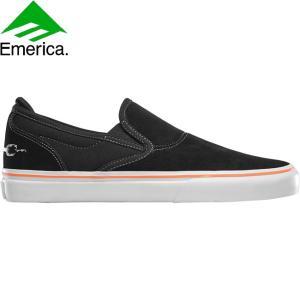 EMERICA WINO G6 SLIP-ON X FUNERAL FRENCH SKATEBOARD SHOES BLACK エメリカ スケートボード スケボー シューズ スニーカー フューネラル・フレンチ 18h|stormy-japan