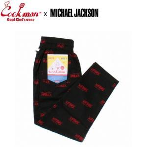COOKMAN x MICHAEL JACKSON CHEF PANTS MJTHRILLER BLACK クックマン マイケルジャクソン スリラー シェフパンツ イージーパンツ ブラック 18f stormy-japan