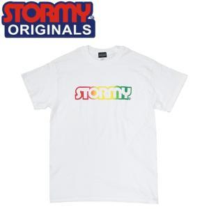 STORMY LOGO SS T-SHIRTS WHITERASTA ストーミーオリジナル 半袖 Tシャツ ホワイトラスタ 19m|stormy-japan
