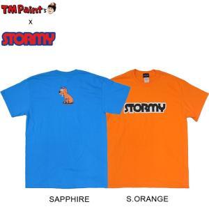 TM Paint x STORMY COLLABO LOGO SS TEE S.ORANGE SAPPHIRE TM ストーミー コラボレーション 半袖 Tシャツ オレンジ サファイア 19m|stormy-japan