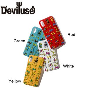 DEVILUSE Hieroglyphic iphone Case iphoneX,XS Green Red White Yellow デビルユース アイフォン ケース 携帯ケース グリーン レッド ホワイト イエロー 19ss|stormy-japan