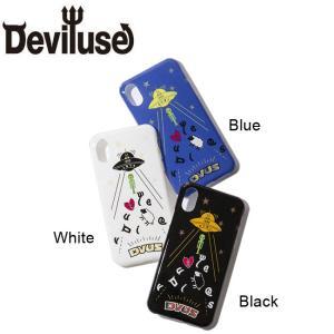 DEVILUSE UFO iphone Case iphoneX,XS Black Blue White デビルユース アイフォン ケース 携帯ケース ブラック ブルー ホワイト 19ss|stormy-japan
