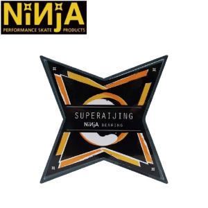 NINJA SUPERAIJING 雷神 SKATEBOARD BEARING ABEC7 OIL(8 PACK)(ニンジャ スケートボード ベアリング オイル 1セット/8個入り)/|stormy-japan
