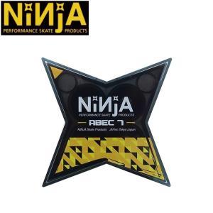 NINJA SKATEBOARD BEARING ABEC7 OIL(8 PACK)(ニンジャ スケートボード ベアリング オイル 1セット/8個入り)/|stormy-japan