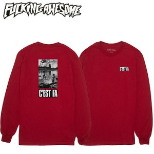 FUCKING AWESOME C'EST FA LS TEE RED ファッキング オウサム 長袖 ロングスリーブ Tシャツ ロンT レッド 18f|stormy-japan
