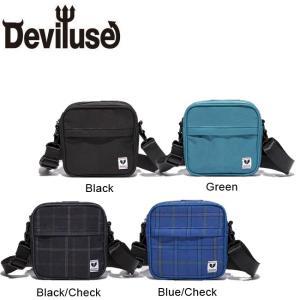 DEVILUSE Mini Shoulder Bag W16xH16xD4cm Black BlackCheck Green BlueChack デビルユース ミニ ショルダーバッグ ブラック チェック グリーン ブルー19ss|stormy-japan