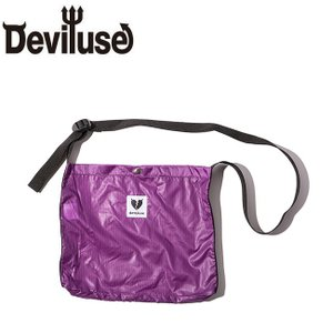 DEVILUSE Heartaches Sacoche Bag W30xH25xD2.5cm Purple デビルユース ナイロン サコシュバッグ ショルダーバッグ パープル 19ss|stormy-japan